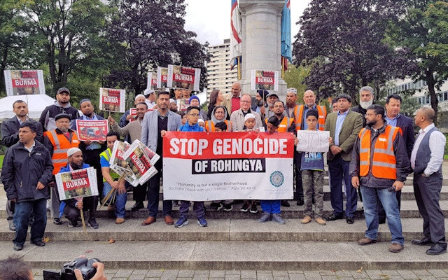 A peaceful protest showing solidarity with the Rohingya people