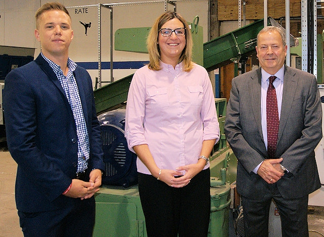 Maxine Brown, managing director of MB Recycling Ltd with Tom Brown,PMD Finance and Alan Bambroffe, Access to Finance