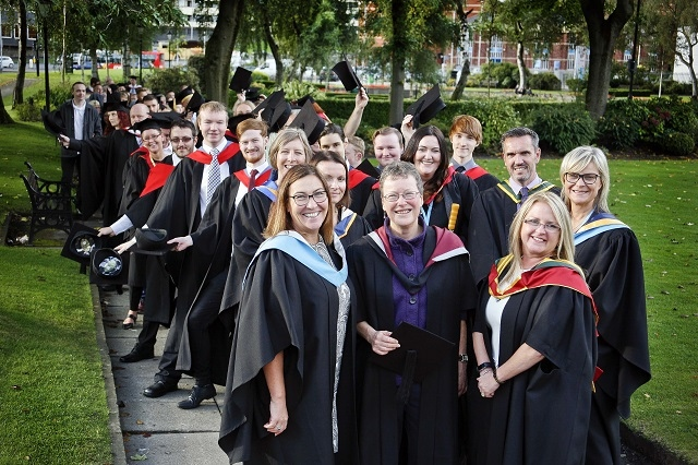 Students from Hopwood Hall College graduated from higher education courses during a ceremony held at Rochdale Town Hall