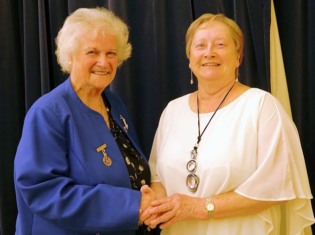 Ann Stott, Rochdale Rotary Club with Sue Ridgard from Rochdale Heartbeat