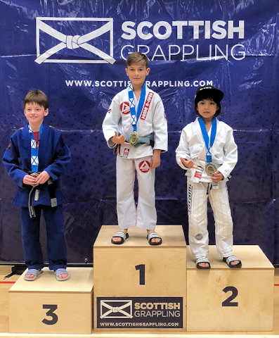Andrew Perez won a silver medal at the Scottish Cup