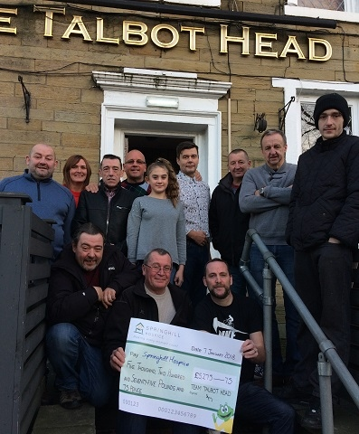 Springhill Hospice supporters from the Talbot Head
