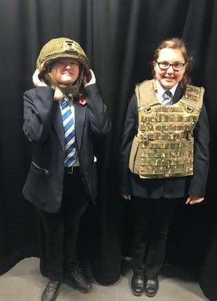 The visit from the Army at Kingsway Park High School during World War One Centenary week