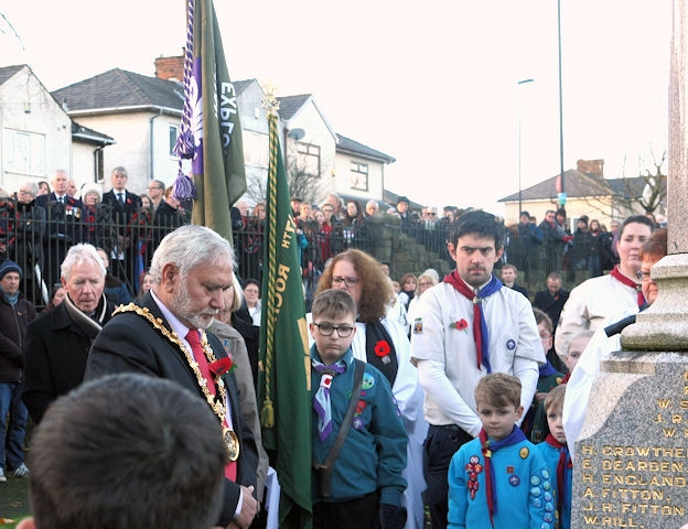 Wardle Remembrance Sunday parade and service