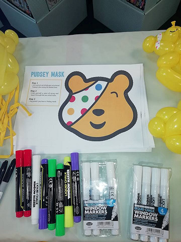 Create your own Pudsey bear balloon