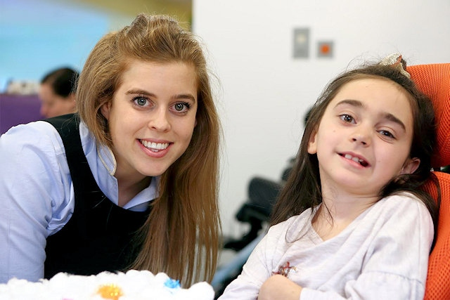 HRH Princess Beatrice spent time with children and families at Grace's Place
