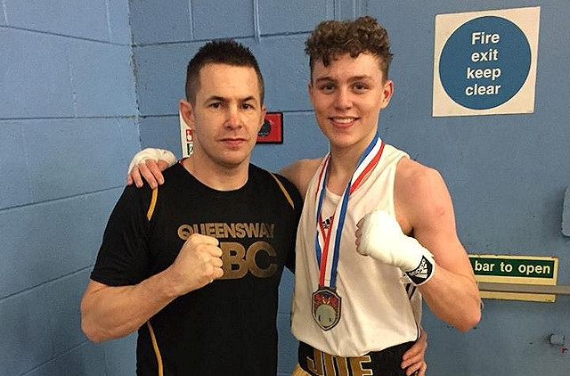 Joseph Crawford kicked off the boxing season retaining two 2017 championship titles