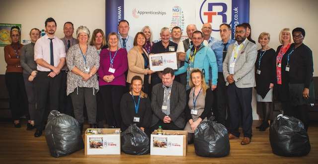 Rochdale Training have donated lots of goods to Rochdale Community Partnership