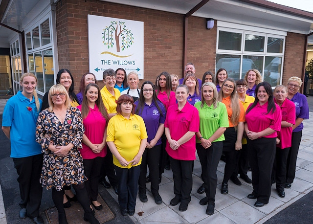 Staff at The Willows Dementia Hub in Rochdale which opened in November 2018