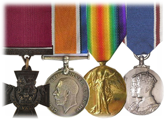 Sgt James Clark VC medal group