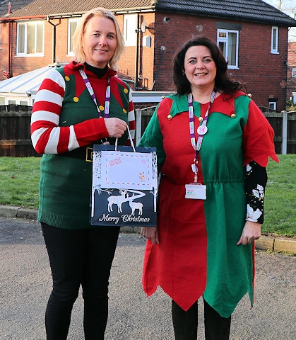 RBH has been out and about delivering Christmas shoebox surprises