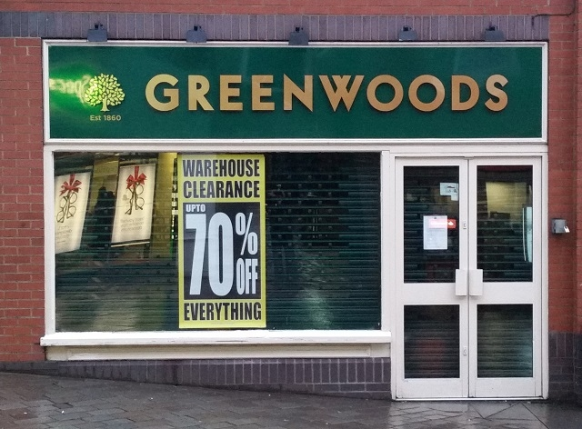 Greenwoods has closed just weeks after returning to the high street