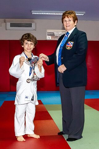 Rochdale Judo Club - Noah Journeaux received The Most Improved Under 10 years old Trophy