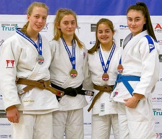 Isobel Kitchen, Rochdale Judo Club won Silver in the British Championships