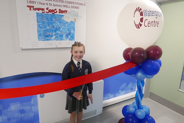 Libby cut the ribbon to open the centre