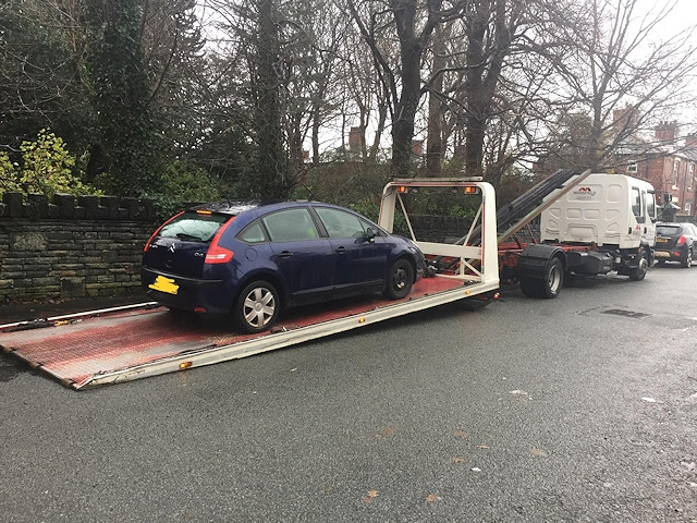 This car was seized for three motoring offences