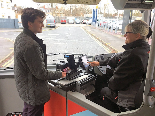 Bus operator Transdev Blazefield is to become the first in the North to trial 'touch and go' contactless capping on its services