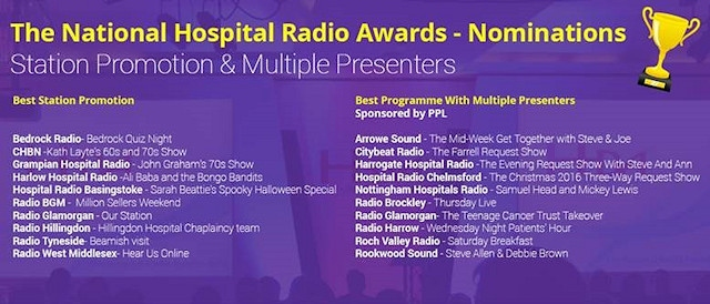 Local hospital radio station Roch Valley Radio has been shortlisted for an award
