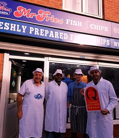 Mr Fries with Quality Fish & Chip Award