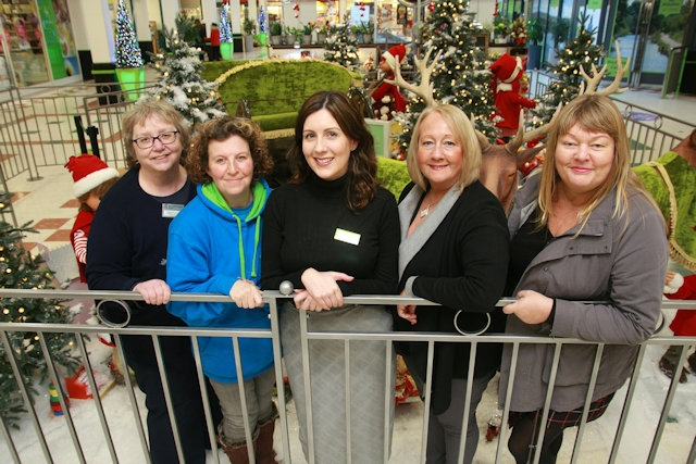 Barbara Lloyd and Rachel Byrne (Springhill Hospice), Susan Curran (PAWs) and Beth Blace and Kathy Thomas (Rochdale Connections)