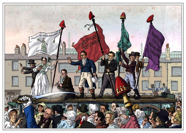 Imagery from the Peterloo massacre