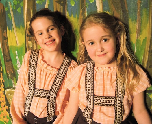Jessica Taylor (left) and Isla Hanson (right) will be playing the star roles of the babes, Danny and Dolly
