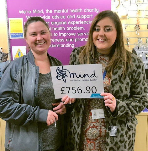 Sarah Hey, Rochdale Mind with Katie Priestley, Convergys Middleton