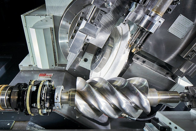 Precision grinding of helical rotor on Zenith 400