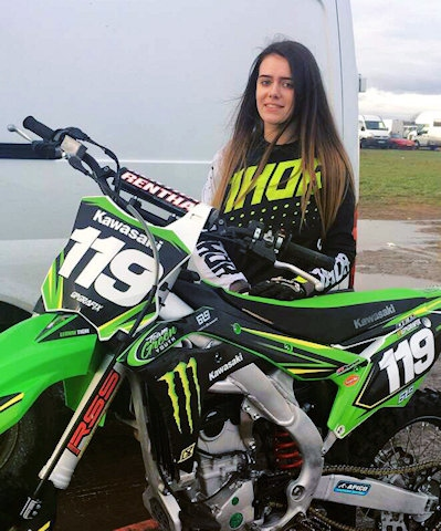 Leonni Tighe takes on European Motocross Championships for Great Britain