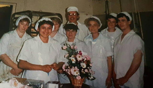 Burney's Bakery staff 30 years ago