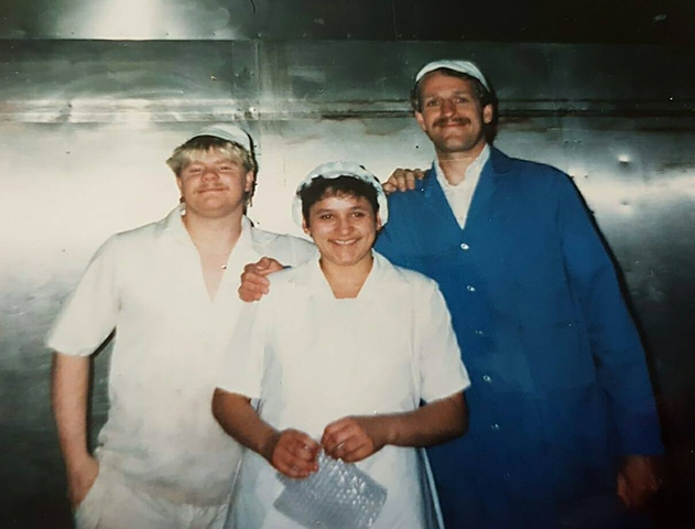 Burney's Bakery staff 30 years ago