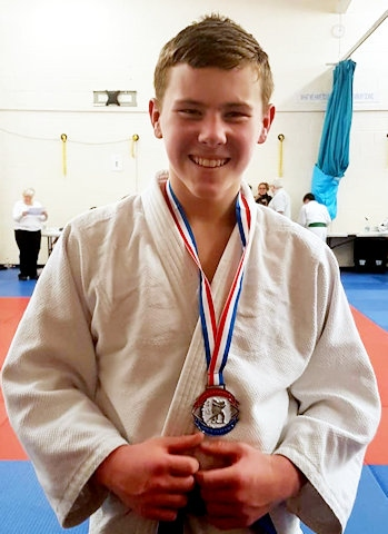 Silver for Jake Brearley at the British Schools' Judo Championship