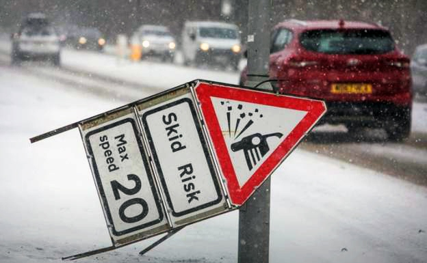 Snow and ice causing problems for drivers
