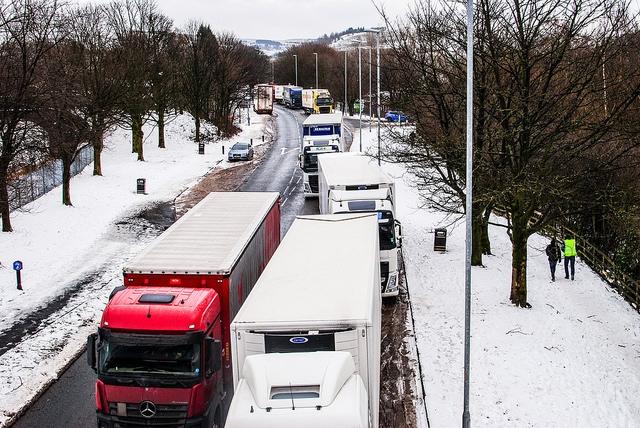 Lorries in Milnrow