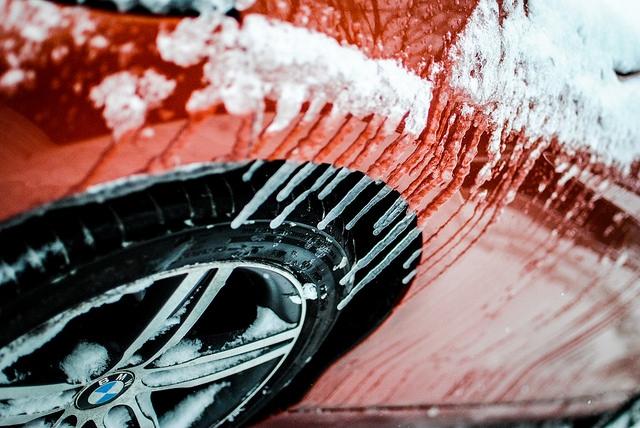 Iced up car