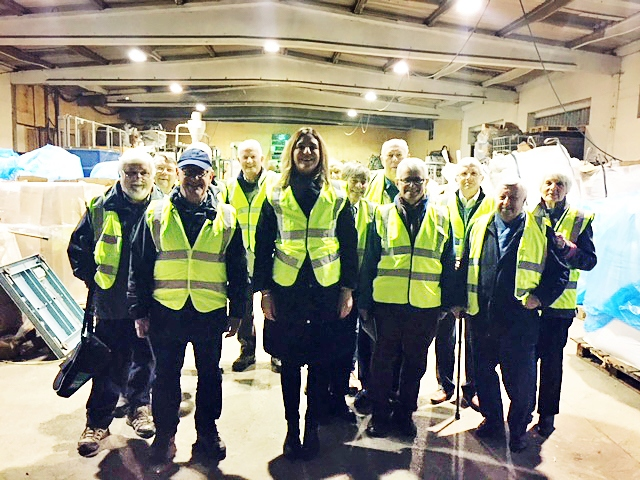 MB Recycling impresses Rotarian's on a private tour