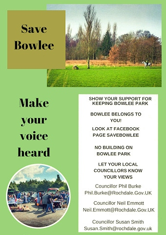 A flyer given out by the Friends of Bowlee