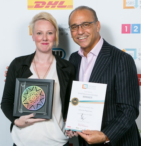Theo Paphitis with Emma Connell