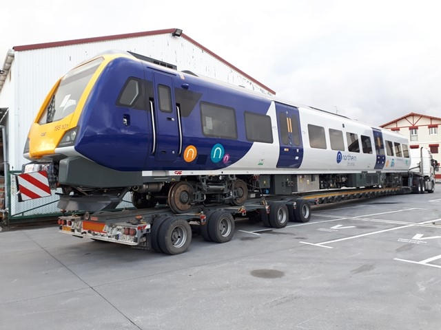 First new Northern train heads for track testing