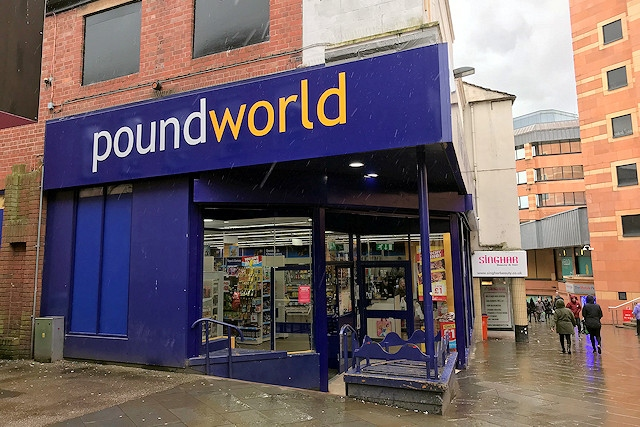 Poundworld on Yorkshire Street, Rochdale
