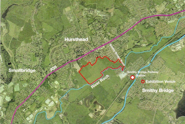 Plans for up to 250 new family homes on land at Smithy Bridge Road, Littleborough