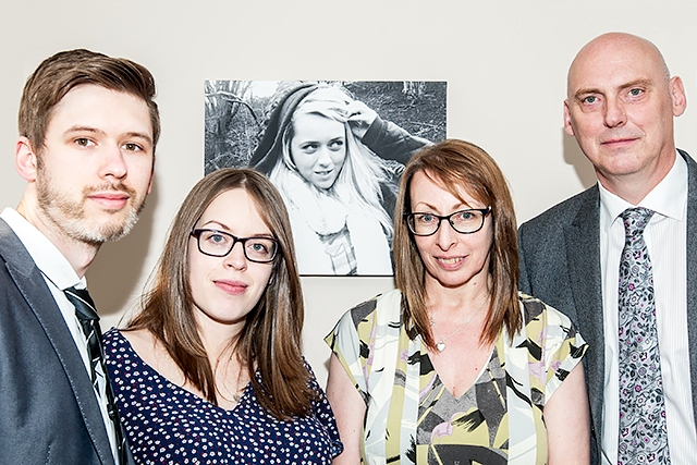 Merryn Crofts' family: Rhys and Amy Williams, Clare and Dave Norton
