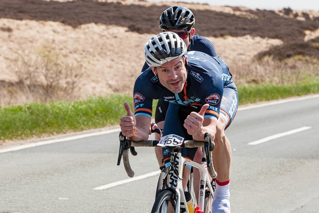 Tour de Manc on the the climb up Owd Betts in 2018