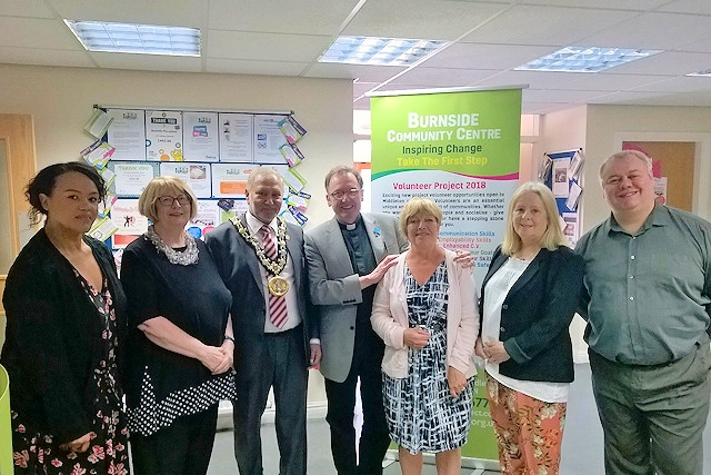 Volunteers were presented with awards at Burnside Community Centre