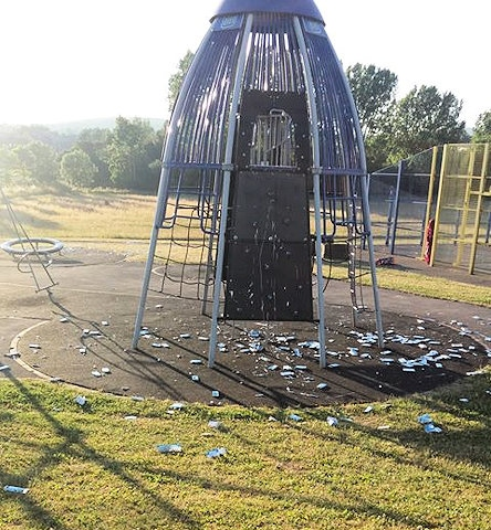 Hundreds of boxes of toothpaste strewn across Eafield Road play area