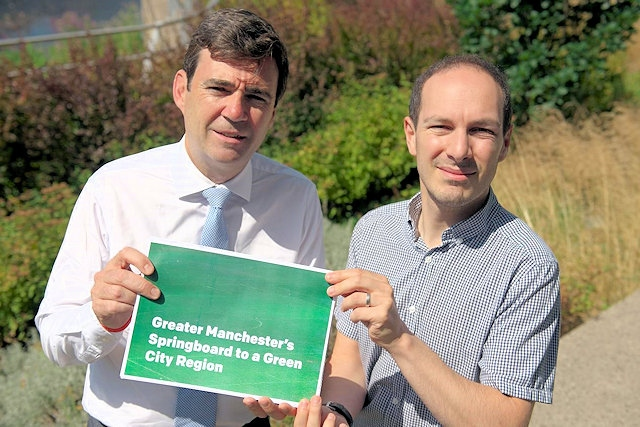 Andy Burnham, Mayor of Greater Manchester and Alex Ganotis, GMCA lead for Green City Region