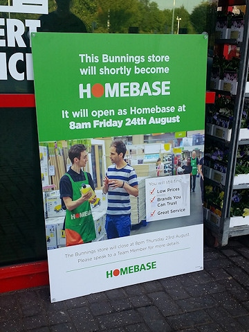 Homebase was previously a Bunnings