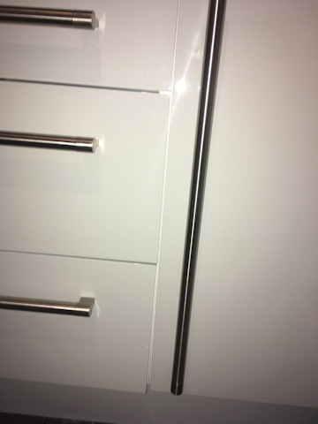 The drawers and doors don't align