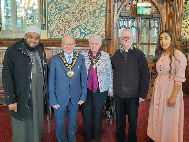 Mayor Billy Sheerin was invited to the Near Neighbours event at Rochdale Town Hall