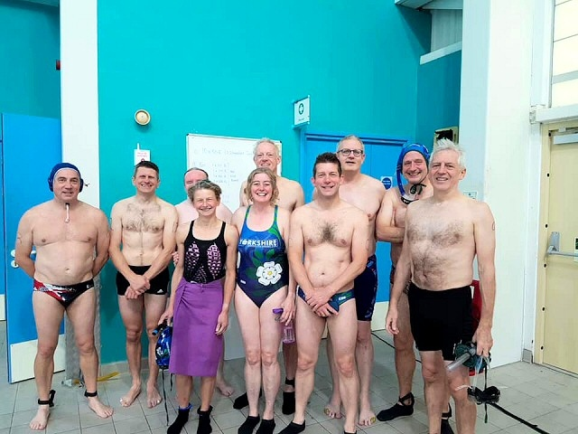 GB Supervets underwater hockey team